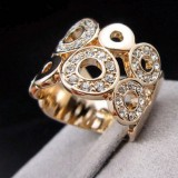 GPR006-18k Gold Plated Swarovski Ring