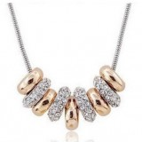 GPN009-18k Gold Plated Swarovski Necklace