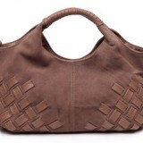LB006-100% Genuine Leather and Suede  Bag