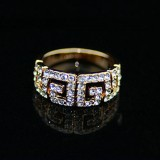 GPR003-18k Gold Plated Swarovski Ring