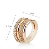 RGR007-18k Gold Plated Swarovski Ring