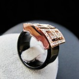 GPR001- 18k Gold Plated Swarovski Ring