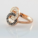 GPR008-18k Gold Plated Swarovski Ring