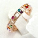 RGR004-18k Rose Gold Plated Swarovski Ring