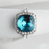 WGR001-18k White Gold Plated Swarovski Ring