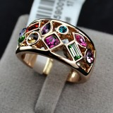 GPR004-18k Gold Plated Swarovski Ring