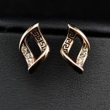 GPE009- 18k Gold Plated Swarovski Earrings