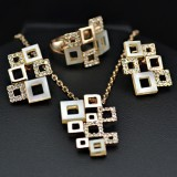 GPS004-18k Gold Plated Swarovski Set