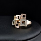 GPR009-18k Gold Plated Swarovski Ring