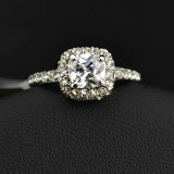 WGR002-18k White Gold Plated Swarovski Ring