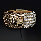 GPB0061-18K Gold Plated Swarovski Bangle