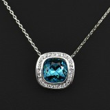 WGN020-18k White Gold Plated Swarovski Necklace