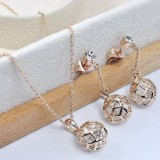 RGS003-18k Rose Gold Plated Swarovski Set