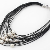 PJ001-White Freshwater Pearl Necklace