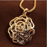 SC004-Gold Plated Swarovski Necklace