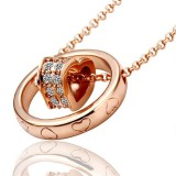 RGN004-18k Rose Gold Plated Swarovski Necklace