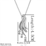 WGN002-18k White Gold Plated Swarovski Necklace