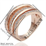 RGR001-18 Rose Gold Plated Swarovski Ring