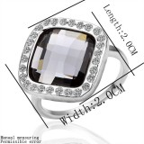 WGR010-18k White Gold Plated Swarovski Ring