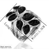 WGR006-18k White Gold  Plated Swarovski Ring