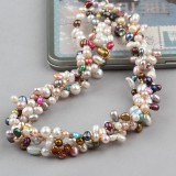 PJ005-Multicolour Freshwater Pearl Necklace