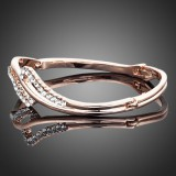 RGB017- 18k Rose Gold Plated Swarovski Bangle
