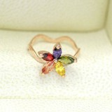 RGR010-18k Rose Gold Plated Swarovski Ring