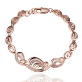 RGB012-18k Rose Gold Plated Bracelet