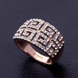WGR012-18k White/Rose Gold Plated Swarovski Ring