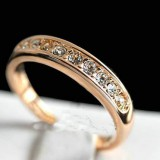 WGR013-18k White/Rose Gold Plated Swarovski Ring