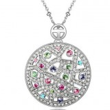 WGN027-18k White Gold Plated Swarovski Necklace