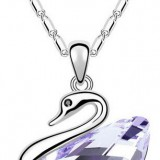 WGN029-18k White Gold Plated Swarovski Necklace