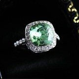 WGR015-18k White Gold Plated Swarovski CZ Ring